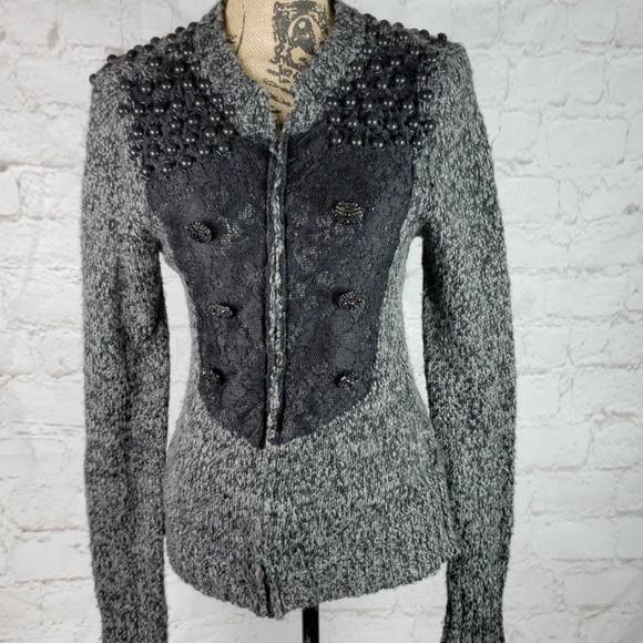 BKE Sweaters - BKE Boutique marled zip front sweater size Medium